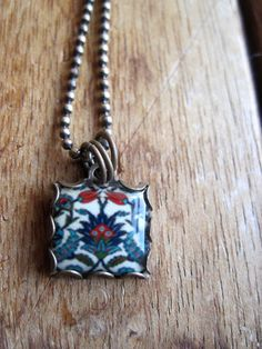 Turkish Folk handmade necklace Islamic Jewelry by CorinaCrooks Pottery Designs, Pottery Ideas, Thing 1, Turkish Jewelry, Jewelry Art, Tribal Jewelry, Jewellery, Ball Chain, Handmade Art