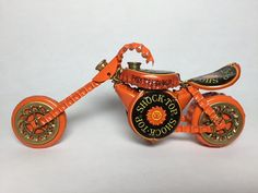BOTTLE CAP MOTORCYCLE Bike - Upcycled Caps - Metal Art - Super Cool!