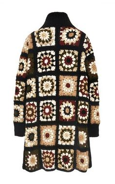 Mixed Media Granny Square Cardigan by ROSETTA GETTY for Preorder on Moda Operandi