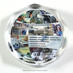 These super thick acrylic paperweight awards feature machine cut and hand polished scalloped edges for a classy and sophisticated look. They can stand on their edge or lay flat on a table. Available with Screen print, Laser or 4 Color Process Imprint.
