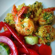Chimichurri Shrimp With Quinoa HispanicKitchen.com