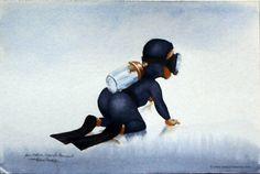 COMBINAISON DE BAPTEME - Baptism wetsuit -  Watercolors on paper by Pascal Lecocq The Painter of Blue  10.5 x 15cm 4x6 Lec473b 1997 priv.coll. Samois France  pascal lecocq #godson #baptism #art #blue #painterofblue #painting #painter #artist #contemporaryartcurator #artstack #artcartridge #artcollectae #glarify #theartdex #in #pint