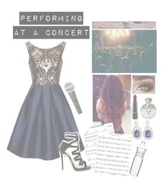 """Performing at a concert "" by squishy-bubble-tea ❤ liked on Polyvore featuring Chi Chi, Jimmy Choo, Galaxy Audio, MAC Cosmetics, Dot & Bo and Britney Spears"