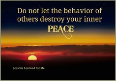 Peace be still...