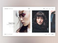 Creative Minimal Home Page by Anastasia Marinicheva