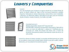 Louvers fijos para ventilación industrial, fabricado totalmente en acero, cuenta con un juego de aletas de 3″ montadas sobre un marco de 4″ (6″ opcional) por lo cual pueden soportar grandes presiones de aire y están diseñadas a prueba de lluvia.