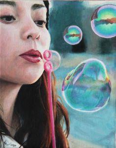 #Bubbles Painting by Lena Danya