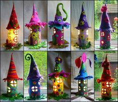 Tutorial-> http://www.itsybitsyfun.com/blog/natural-toilet-paper-roll-fairy-house  Watch the video for step by step do it yourself tutorial on how to build toilet paper roll fairy houses.  Video-> https://www.youtube.com/watch?v=vJfYYqZAN9M once you get the hang of it you can make them out of Felt or any material you want