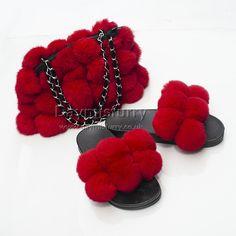 £44.00 #ootd #fur #bag #furbag #womenswear #womenfashion #womenstyle #accessory #ladyfashion #ladystyle #ladyoutfit #outfit #outwear #accessory #fashionitem #fashionaccessory #slides #slippers #furslides #furslippers #handmade #boutique #londonfashion #londonstyle #new #love #furry Fur Bag, The Ultimate Gift, Fur Pom Pom, Rabbit Fur, London Fashion, Crochet Necklace, Slippers, Red, Gifts