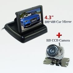 """High quality product on promotion 4.3"""" placement In-Dash foldable car  monitor +car rear reversing camera matel shell camera"""