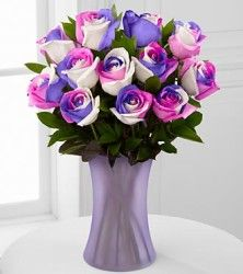 Real Rainbow Rose Bouquet