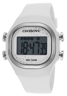 Oxbow Watches Women's Riders Unlimited Digital White Silicone Grey Dial 4550601,    #Oxbow,    #4550601,    #Sport