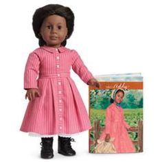 Addy Walker doll was released in Fall 1993, The inspirational side of the Civil War era comes to life in the courageous story of Addy Walker.  Pre-Mattel Addy dolls have thicker hair. Z