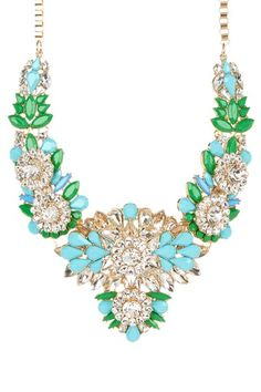 Green Flower Bib Necklace by RM Manufacturing Co. on @HauteLook