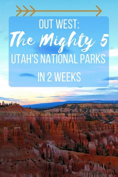 "Want to see Utah's National Parks and the Famous ""Mighty Five"""" + Grand Canyon in under two weeks? Check out the post to see how!"