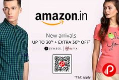 Amazon #Exclusive is offering Upto 30% + Extra 30% off on Symbol, MYX, New Arrivals Clothes. Extra 10% back as Amazon Pay Balance.  http://www.paisebachaoindia.com/symbol-myx-new-arrivals-clothes-upto-30-extra-30-off-amazon/