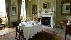 Dining room, Peckover House. North Brink, Wisbech, Cambridgeshire, England. 1722. A classic Georgian merchant's town house, Peckover House was lived in by the Peckover family for 150 years. Photo: David Kirkham for National Trust.