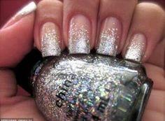 nail art, nail design, christmas nail art, NYE nail art,  glitter nails, sparkly nails, glitter nail polish, gold glitter nails, silver glitter nails, blue glitter nails,