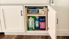 EASY Under Sink Storage H Shelf Household Organization, Home Organization Hacks, Kitchen Organization, Kitchen Storage, Diy Storage Cabinets, Built In Cabinets, Sink Shelf, Under Sink Storage, Wood Creations