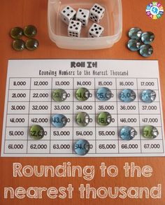 This FREE rounding game worked great in my math centers! The game board for rounding numbers to the nearest thousand was great practice for my graders. Fun Classroom Activities, Math Games For Kids, Math Classroom, Classroom Ideas, Rounding Games, Rounding Numbers, Fifth Grade Math, Fourth Grade, Third Grade