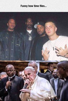 Dude Ice Cube is looking at Eminem like 'wtf do you think your doing. YOUR WHITE'