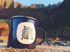 Nothing like a cup of coffee after waking up here. Our LWLH camping mugs adventuring to Kalalau Valley // Via @alohaexchange #adventurewithLWLH #luckywelivehawaii