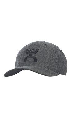aac70007b9c HOOey Grey Diamond with Black Logo Flex Fit Cap Western Hats