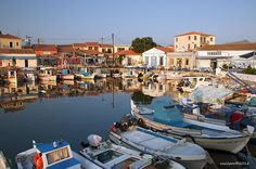 The old port in Myrina the capital of Lemnos Island.