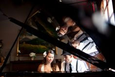 Jazz themed engagement shoot. Photo by Casey Fatchett - www.fatchett.com