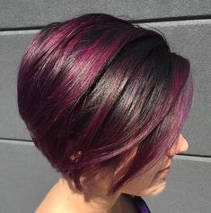 Sweeping Bob with Purple Highlights