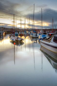 Dusk at North Berwick harbour, Scotland