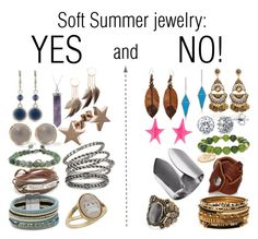 Soft Summer jewelry: YES and NO! by glirendree on Polyvore featuring moda, Alexis Bittar, Serefina, Chan Luu, Dsquared2, BERRICLE, Chico's, Design Lab, Nine West and Amrita Singh