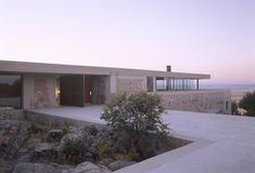 Built by Jesús Aparicio Estudio de Arquitectura in Salamanca, Spain with date 2006. Images by Roland Halbe. Only after deciding where to build a house, you can be aware of the importance of it.  The house is located in a quie...