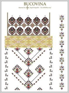 Semne Cusute: IA AIDOMA 004 = Bucovina, ROMANIA Folk Embroidery, Cross Stitch Embroidery, Embroidery Patterns, Cross Stitch Patterns, Diy Crafts Hacks, Diy And Crafts, Wedding Album Design, Palestinian Embroidery, Embroidery Techniques
