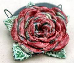 BIG Camelia Pendant by ScorchedEarthonEtsy on Etsy