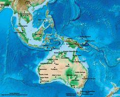 Mapa con los yacimientos arqueológicos de Homo sapiens más antiguos de Australia