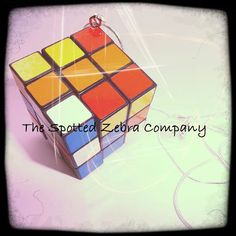 Funky Rubik's Cube r Pendant Necklace by TheSpottedZebraCo on Etsy, £6.99