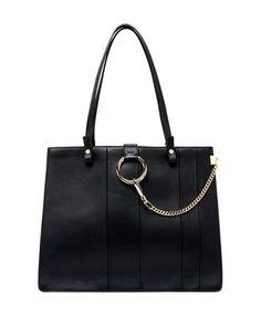 Faye Small Paneled Tote Bag by Chloe at Bergdorf Goodman.