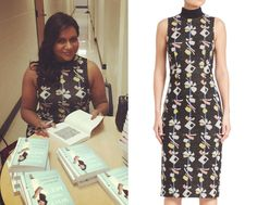 Mindy wore this graphic print dress to her book signing in Austin at the weekend!