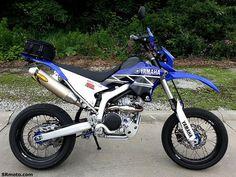 Yamaha WR250R based supermoto/cafe racer hybrid.