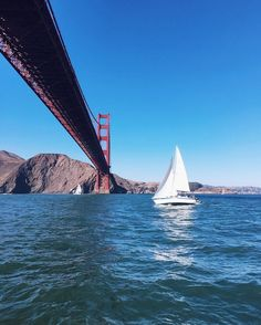 Sailing right under the Golden Gate Bridge yesterday #sanfrancisco #sailing #mysf #goldengatebridge #sailingthebay