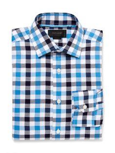 Oxford Check Dress Shirt by Duchamp at Gilt