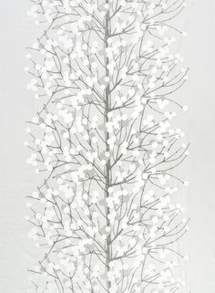 Marimekko Lumimarja Silver/White Sateen Fabric Luxurious, lustrous and luminous; all attempt to describe the Marimekko Lumimarja Silver/White Sateen Fabric, but words and images do not do its beauty justice.
