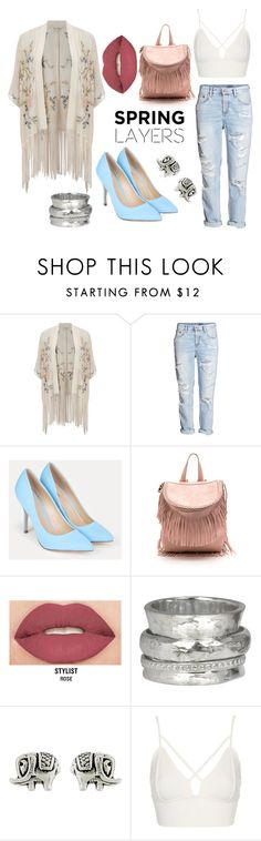 """* SPRING JACKET by bOO *"" by boo-sandra ❤ liked on Polyvore featuring Miss Selfridge, H&M, JustFab, Smashbox, MeditationRings, Accessorize and Topshop"