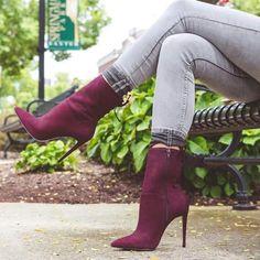 Aldo velvet plum boots Pinterest: @itsmissydiana