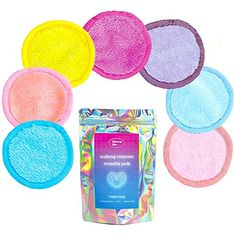 Reusable Makeup Remover Pads 7 Cloths Per Set - Gently remove mascara, exfoliate skin, clean your face - Eraser rounds for your makeup! Wipes your face free only with warm water - MAKEUP BLUR (Pastel) Best Makeup Remover, Makeup Remover Pads, Makeup Wipes, How To Exfoliate Skin, Blur, Makeup Yourself, Mascara, Cloths, How To Remove