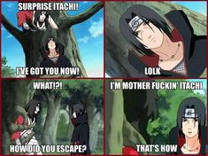 Cause he's Itachi...Excuse the language.