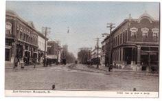 Monmouth Illinois Ill East Broadway John Hood Trolley Line Dirt Street 1434