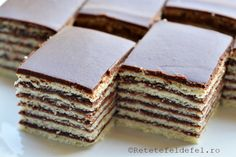 Pin on Foodie inspiration Romanian Desserts, Romanian Food, Cacao Recipes, Sweets Recipes, Food Cakes, Sweet Cakes, Food Design, Sweet Treats, Food And Drink