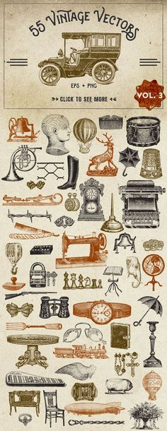 Vintage Vector Graphics Vol. 3 by Eclectic Anthology on Creative Market